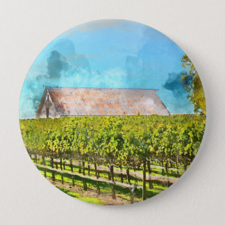 Barn in a Vineyard in Napa Valley California 10 Cm Round Badge