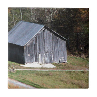 BARN ON A HILL SOUTHWEST VIRGINIA SMALL SQUARE TILE