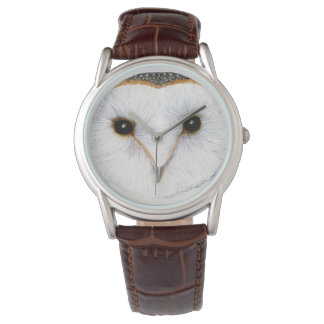 Barn Owl Bird Watercolor Artwork Watch