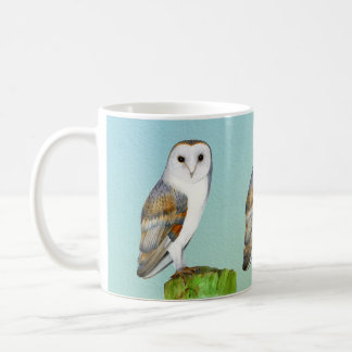 Barn Owl Bird Watercolor Painting Wildlife Artwork Coffee Mug