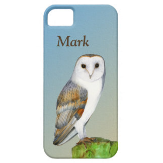 Barn Owl Bird Watercolor Painting Wildlife Artwork iPhone 5 Case
