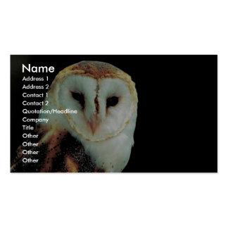 Barn owl business card templates