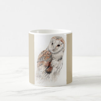 Barn owl ceramic mug