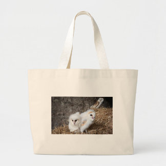 Barn Owl Chicks In A Nest Large Tote Bag