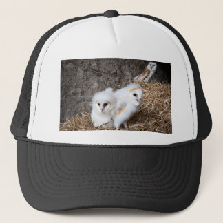Barn Owl Chicks In A Nest Trucker Hat