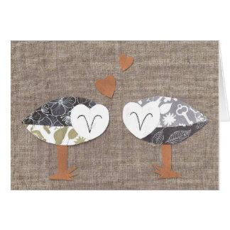 Barn Owl Couple card