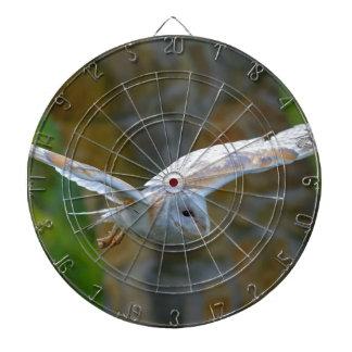 Barn Owl Flying Dartboard