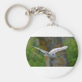 Barn Owl Flying Key Ring
