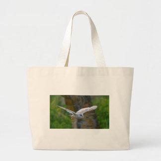 Barn Owl Flying Large Tote Bag