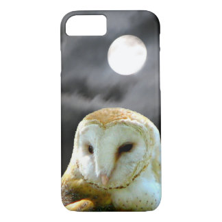 Barn Owl Full Moon iPhone 7 Case