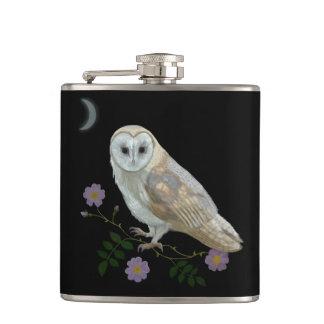 Barn Owl Hip Flasks