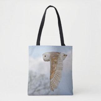 Barn Owl in Flight All Over Print Bag