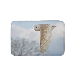 Barn Owl in Flight Bath Mat
