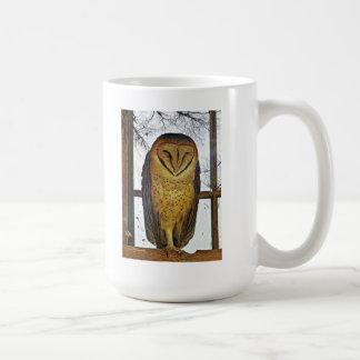 Barn owl coffee mugs