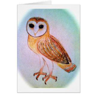 Barn owl notecard