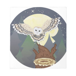 Barn Owl on a Tree Stump 2 Notepads