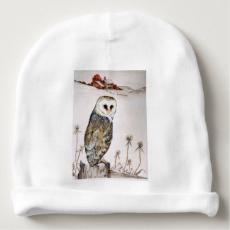Barn Owl on the hunt Baby Beanie