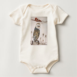 Barn Owl on the hunt Baby Bodysuit