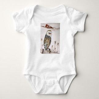 Barn Owl on the hunt Baby Bodysuit