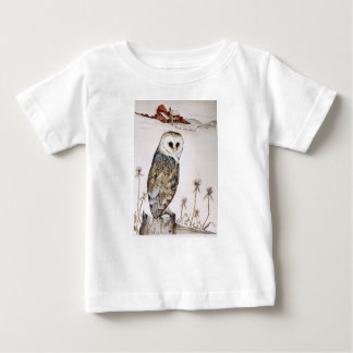 Barn Owl on the hunt Baby T-Shirt