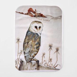 Barn Owl on the hunt Burp Cloth