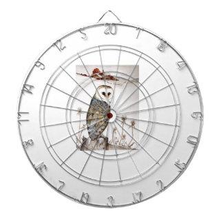 Barn Owl on the hunt Dartboard