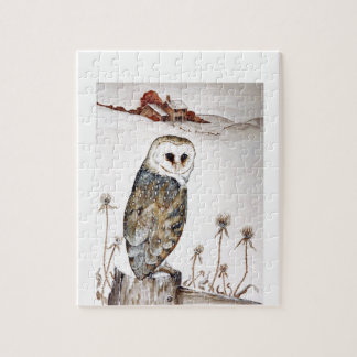 Barn Owl on the hunt Jigsaw Puzzle