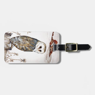 Barn Owl on the hunt Luggage Tag