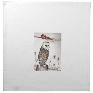 Barn Owl on the hunt Napkin
