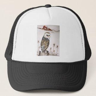 Barn Owl on the hunt Trucker Hat
