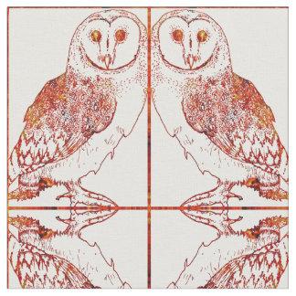 Barn Owl Pattern Fabric