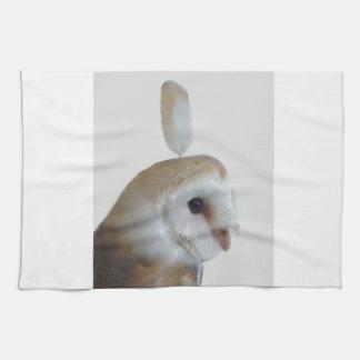 Barn Owl Pattern Kitchen Towel