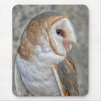 Barn Owl Profile Mouse Pad