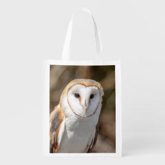 Barn Owl Reusable Grocery Bag