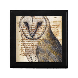 Barn Owl Small Square Gift Box