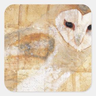 Barn Owl Square Stickers
