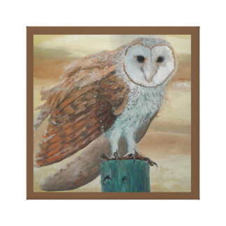 Barn Owl Sunset Canvas Print