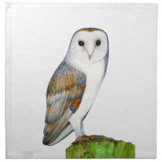 Barn Owl Tyto Alba Watercolor Artwork Print Napkin