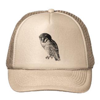 Barn Owl Vintage Wood Engraving Cap