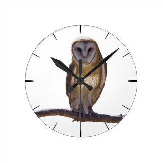 Barn Owl Wall Clocks