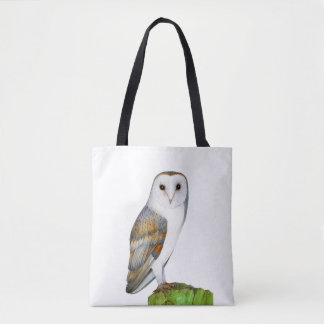 Barn Owl Watercolor Artwork Jewellery and Bags