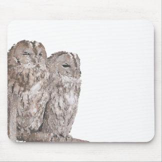 Barn Owls Mouse Pad