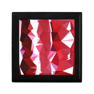 Barn Red Abstract Low Polygon Background Gift Box