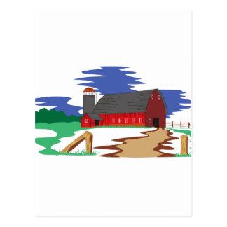 Barn Scene Postcard