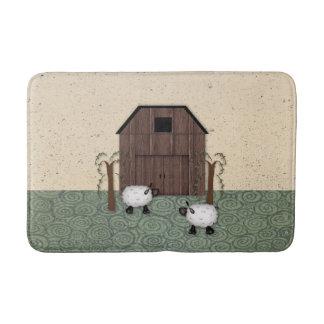Barn Sheep Bath Mat