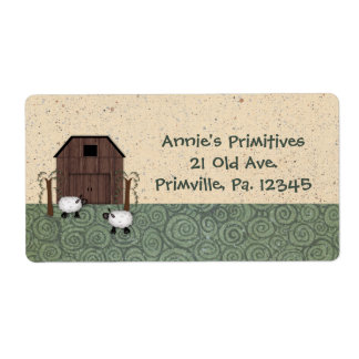 Barn Sheep Label Shipping Label