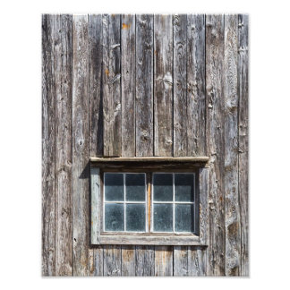Barn Side With Window Photographic Print