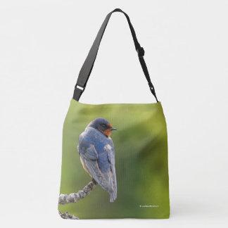 Barn Swallow on a Branch Crossbody Bag