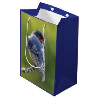 Barn Swallow on a Branch Medium Gift Bag