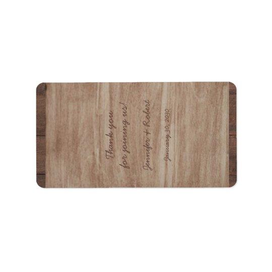 Barn Wood and Birch Country Wedding Lip Balm Label